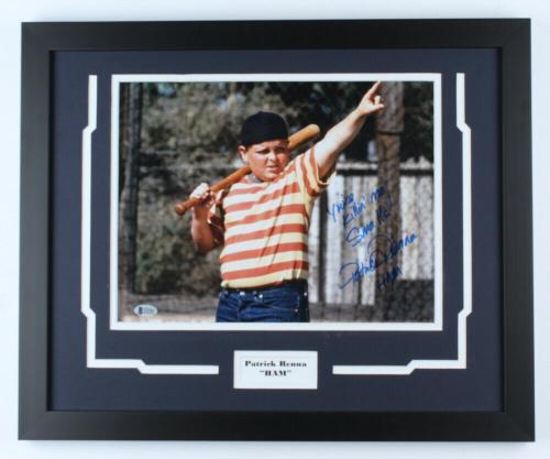 "Patrick Renna ""HAM"" Signed Autographed 11x14 Framed Photo Beckett Authen Sandlot"