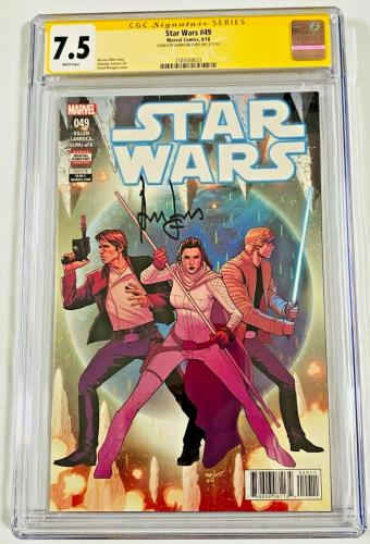 Han Solo CGC 7.5 Signed Harrison Ford Star Wars #49 Marvel Comic Signature