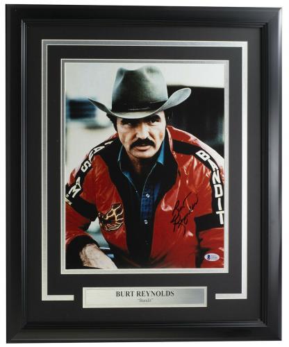Burt Reynolds Signed Framed 11x14 Smokey and the Bandit Photo BAS J39540