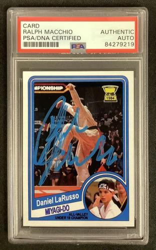 Ralph Macchio Signed Card Karate Kid Miyagi-Do Cobra Kai Autograph PSA/DNA M