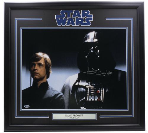 Dave Prowse Signed Framed 16x20 Star Wars Skywalker Photo Darth Vader BAS