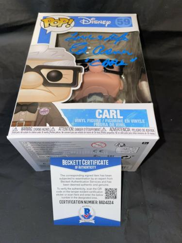 Ed Asner Signed Official Carl Funko Pop Vinyl Figure Disney Up Beckett