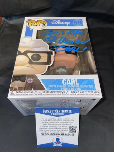 Ed Asner Signed Official Carl Funko Pop Vinyl Figure Disney Up Beckett #3