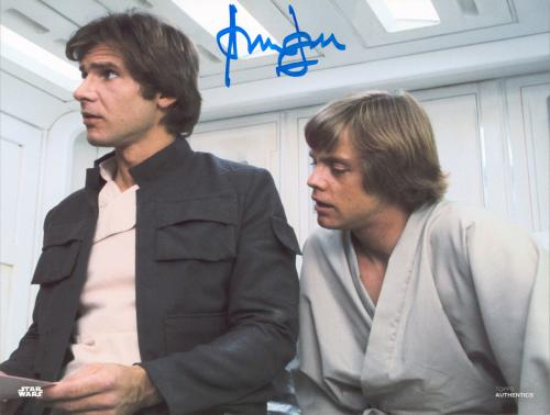 Harrison Ford Star Wars Signed 8x10 Topps Photo BAS Witnessed #M89233