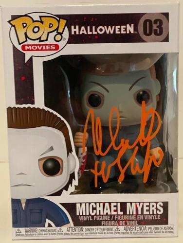Nick Castle Signed Autograph Funko Pop Michael Myers Halloween Beckett BAS COA
