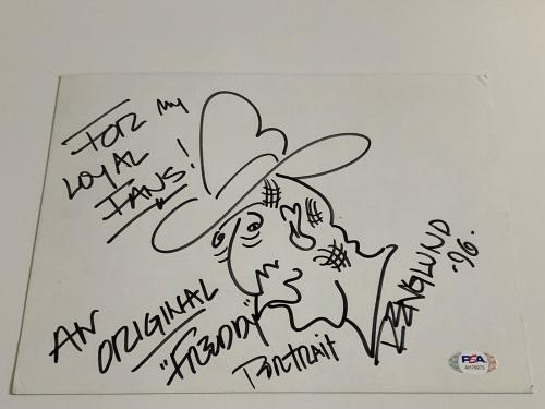 Robert Englund Freddy Krueger Actor Signed Autograph Sketch Cut PSA DNA j2f1c