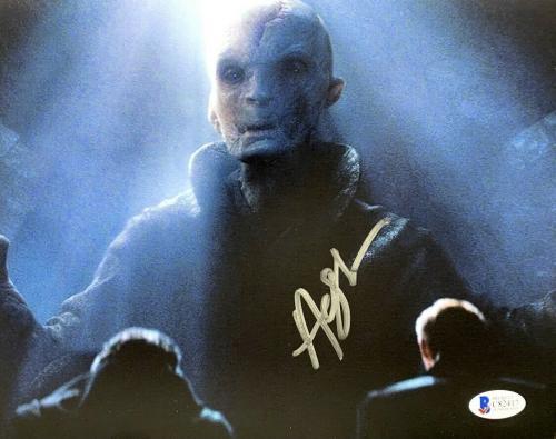 "Andy Serkis Signed STAR WARS  ""Smoke"" The Last Jedi 8x10 Photo Beckett C82417"