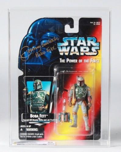 Star Wars POTF Boba Fett Action Figure signed Jeremy Bulloch GRADED CAS 80 JSA