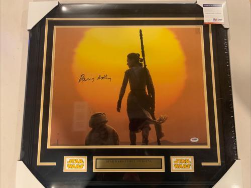 Daisy Ridley autograph signed Star Wars 16x20 photo framed PSA/DNA