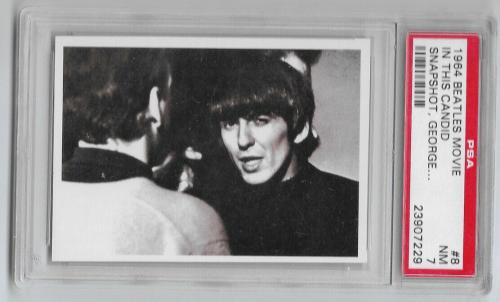 1964 The Beatles Movie In This Candid Snapshot, George Harrison Card #8 Psa 7 Nm