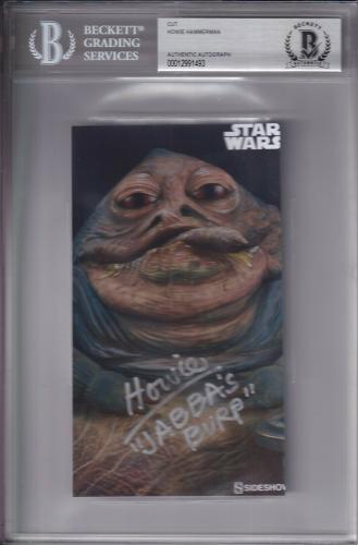 "Beckett Slabbed Howie Hammerman ""jabba's Burp"" Star Wars Cut Photo 00012991493"