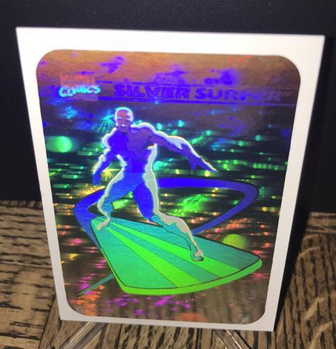 Vintage Marvel 1990 Impel Silver Surfer Hologram Trading Card Authentic Rare