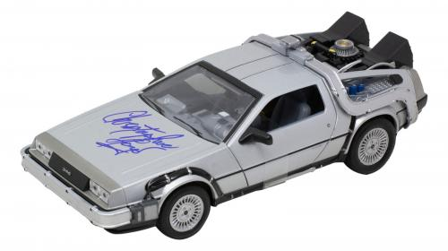 Christopher Lloyd Signed Back to the Future 1:24 Diecast Time Machine Car JSA