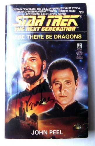 Jonathan Frakes Signed Autographed Book Star Trek TNG Cmm. Riker JSA QQ36843