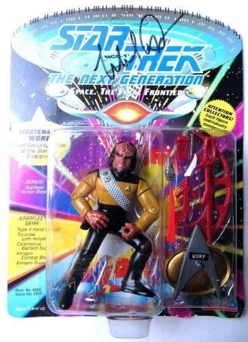 Michael Dorn Signed Autographed Action Figure Star Trek TNG Worf JSA QQ36835