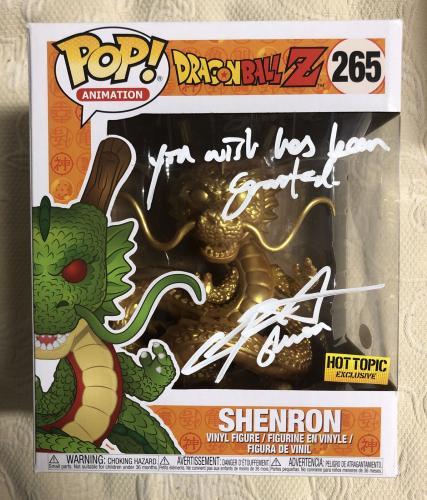 Chris Sabat Signed  Shenron Exclusive Funko Pop Dragon Ball Z JSA Sticker Only