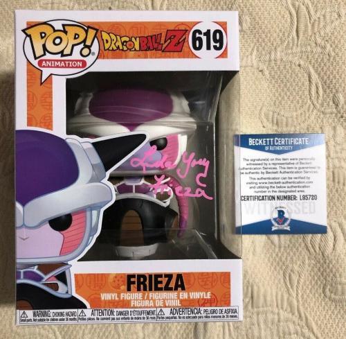 Linda Young Signed Autographed Frieza Funko Pop Dragon Ball Z BECKETT COA 39