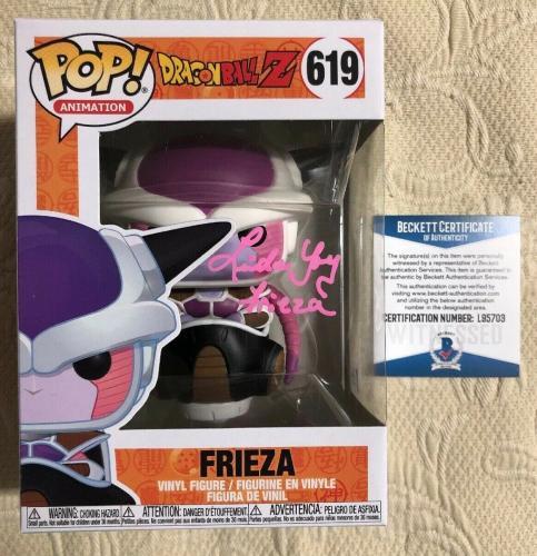 Linda Young Signed Autographed Frieza Funko Pop Dragon Ball Z BECKETT COA 38