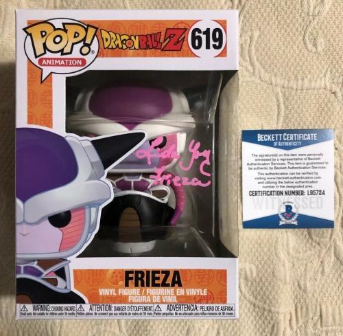 Linda Young Signed Autographed Frieza Funko Pop Dragon Ball Z BECKETT COA 21