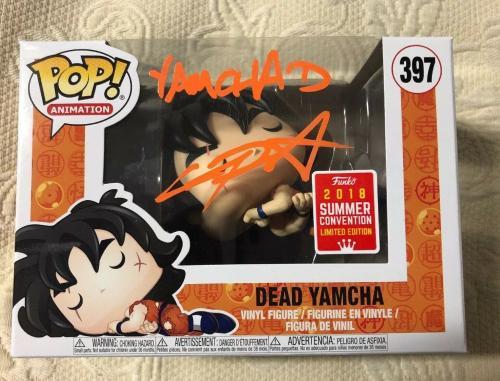 Chris Sabat Signed Autographed YAMCHA  Funko Pop Dragon Ball Z JSA WITNESS COA 6