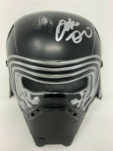 Kylo Ren Adam Driver Signed Star Wars Movie Mask Medium Beckett BAS Witnessed