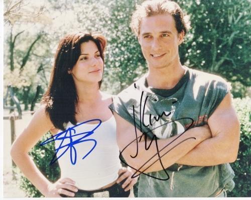 Matthew McConaughey and Sandra Bullock Signed - Autographed 8x10 Photo with JK Livin Inscription