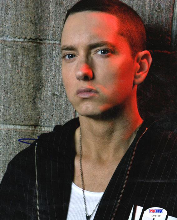 Eminem Slim Shady Autographed Signed 8x10 Poster Photo Psa/Dna AFTAL