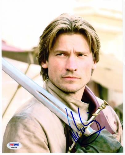 Nikolaj Coster-Waldau Jamie Lannister signed 8x10 photo PSA/DNA Game of Thrones