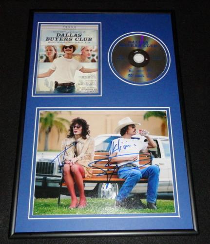 Matthew McConaughey & Jared Leto Signed Dallas Buyers Club Photo DVD Display AW