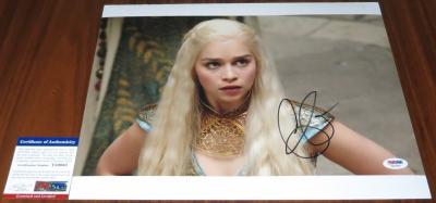 Pretty Emilia Clarke Signed 11x14 Game of Thrones Daenerys Stormborn PSA/DNA