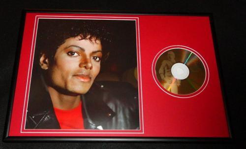 Michael Jackson Framed 12x18 CD & Photo Display