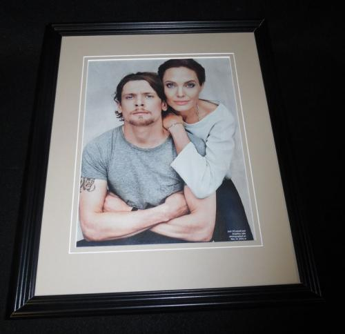 Angelina Jolie & Jack O'Connell 2014 Framed 11x14 Photo Display