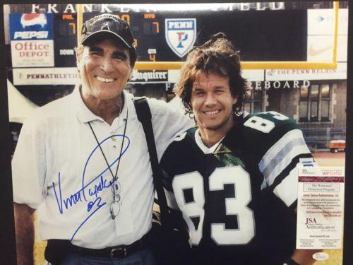 Autographed/Signed VINCE PAPALE Invincible  w/ Mark Wahlberg 16x20 Photo JSA COA