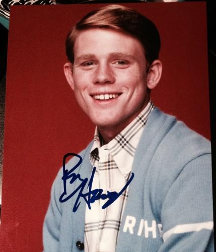 RON HOWARD SIGNED RARE AUTOGRAPH CLASSIC CHEERS VINTAGE POSE 8x10 PHOTO COA