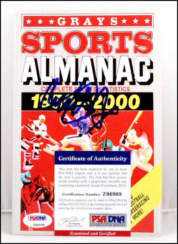 Michael J. Fox Autograph Signed Back To The Future Grays Sports Almanac Psa Coa