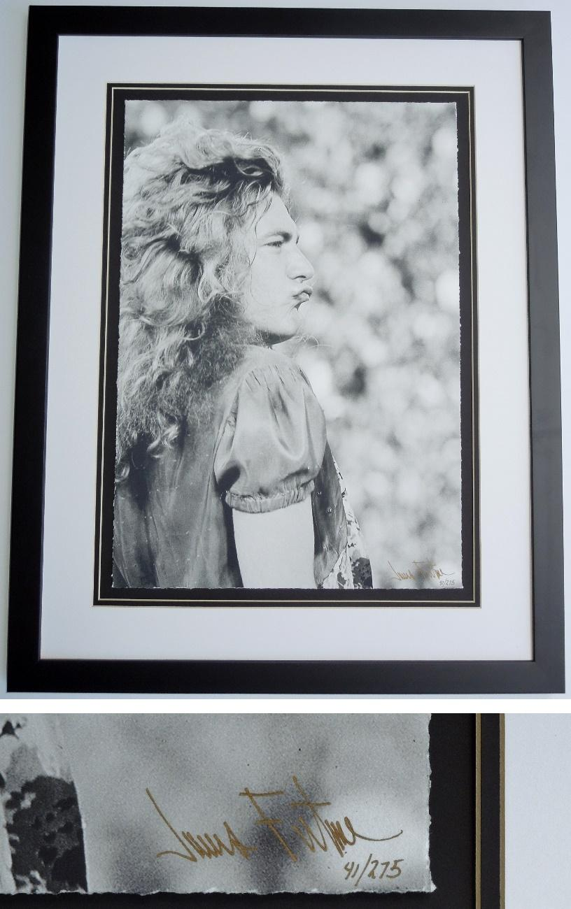 Robert Plant - James Fortune Limited Edition Fine Art Giclee Lithograph Photo Print - Black FRAME - Guaranteed to pass PSA or JSA measures 22x28 inches - Custom FRAMED - Guaranteed to pass PSA or JSA - Led Zeppelin Singer
