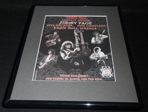 2007 Ernie Ball Strings Jimmy Page Framed 11x14 ORIGINAL Vintage Advertisement