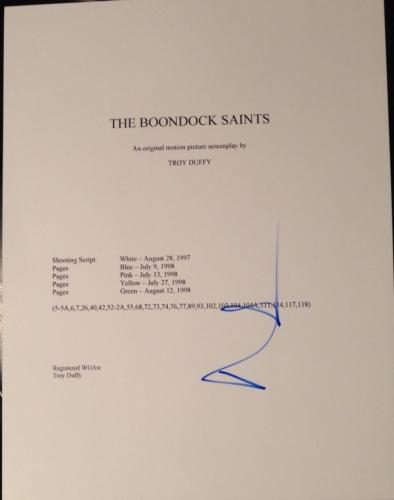 """Norman Reedus Signed Autograph """"the Boondock Saints"""" Full Movie Script With Coa"""