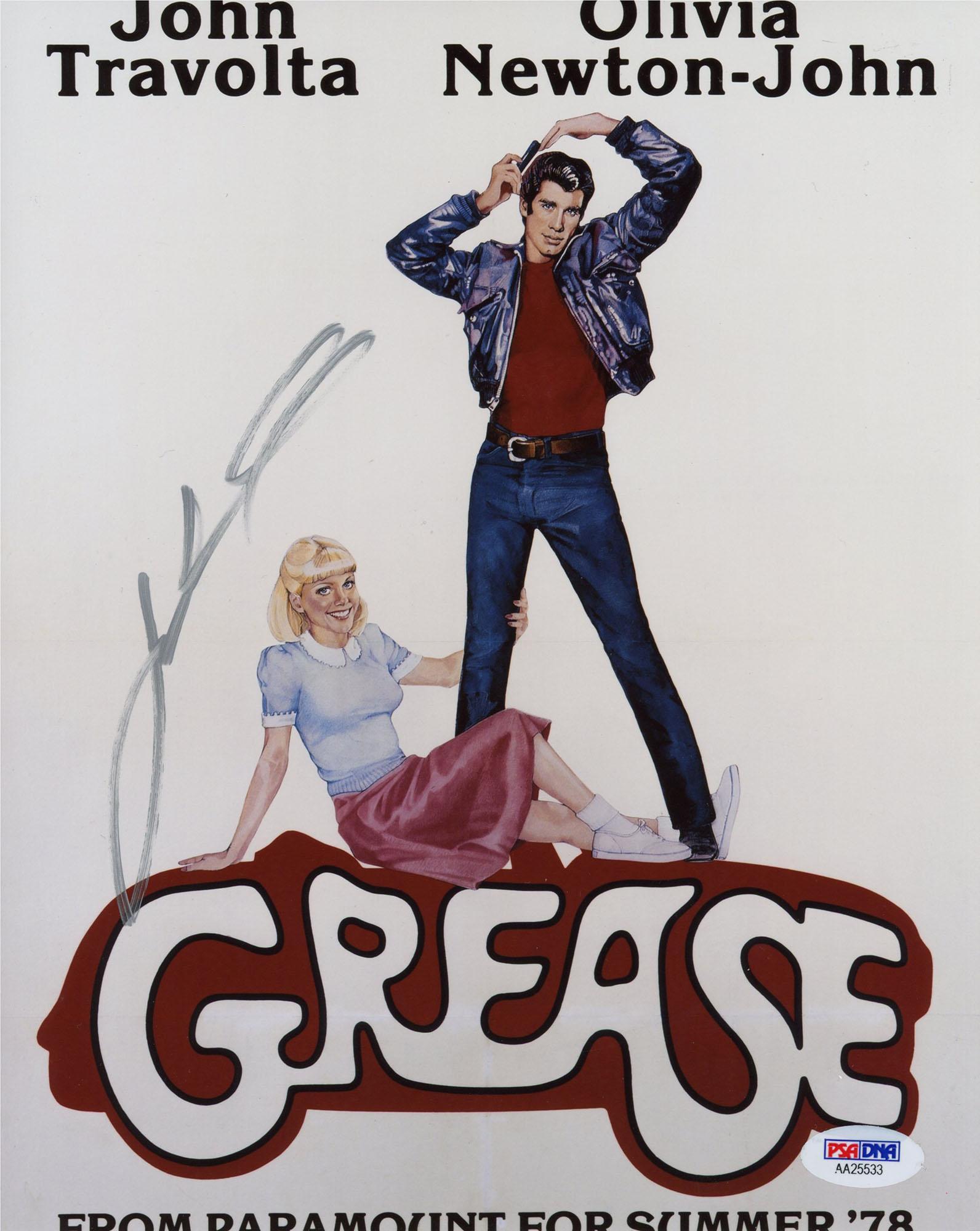 "John Travolta Autographed 8"" x 10"" Grease Photograph - PSA/DNA"