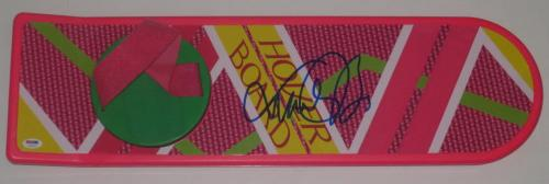 Michael J Fox Back To The Future Signed Hoverboard Autograph Proof Psa/dna