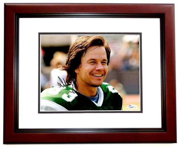 Mark Wahlberg Signed - Autographed INVINCIBLE 8x10 inch Photo MAHOGANY CUSTOM FRAME as Vince Papale - JSA Certificate of Authenticity