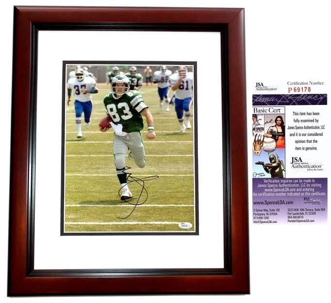 Mark Wahlberg Signed - Autographed 10x13 INVINCIBLE Photo MAHOGANY CUSTOM FRAME as Vince Papale - JSA Certificate of Authenticity