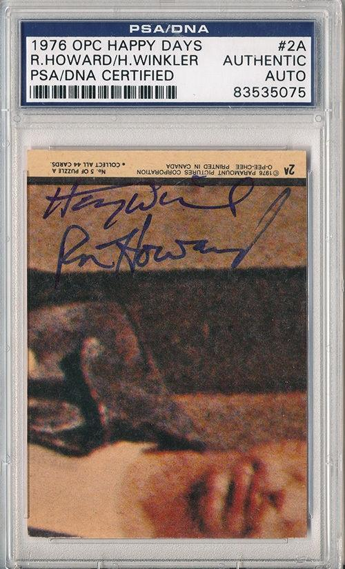 Psa/dna Signed 1976 Opc Happy Days Ron Howard / Henry Winkler 5075