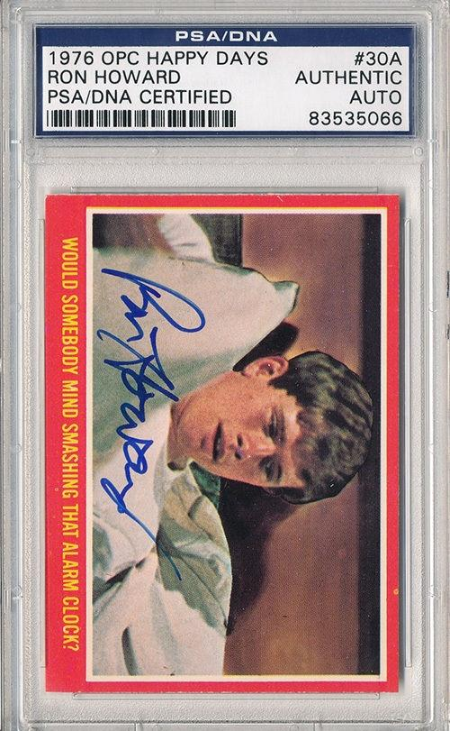 Psa/dna Signed 1976 Opc Happy Days Ron Howard 5066