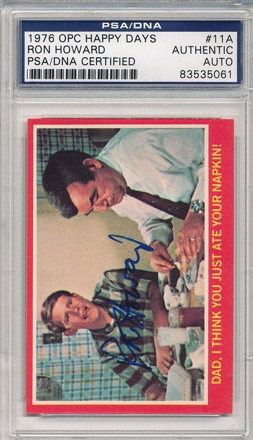 Psa/dna Signed 1976 Opc Happy Days Ron Howard 5061