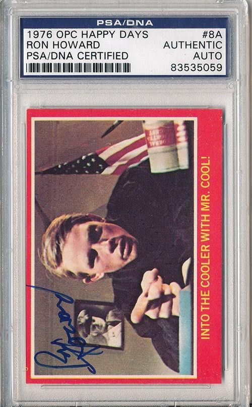 Psa/dna Signed 1976 Opc Happy Days Ron Howard 5059