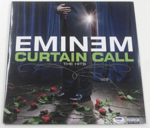 Eminem Shady Signed Curtain Call Album Vinyl Authentic Autograph Psa/dna Loa
