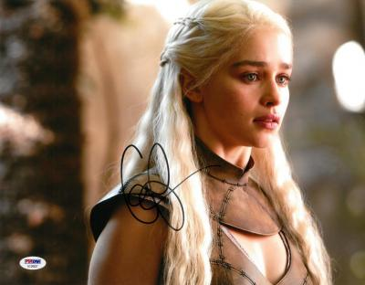 Emilia Clarke Signed Game of Thrones Autographed 11x14 Photo PSA/DNA #AC20627