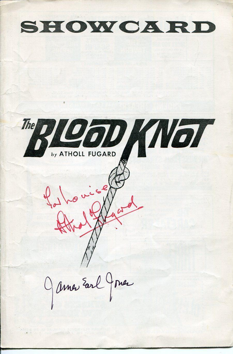 James Earl Jones Athol Fugard The Blood Knot Rare Signed Autograph Playbill
