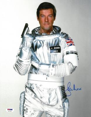 Roger Moore Signed James Bond Authentic Autographed 11x14 Photo PSA/DNA #AC17418